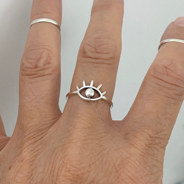 Sterling Silver All Seeing Eye Ring, Silver Rings, Eye Ring, Religious Ring