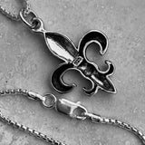 Sterling Silver Fleur De Lis Necklace, Silver Necklace, Saints Necklace, France Necklace