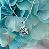Sterling Silver Eye of Horus Necklace, Eye Necklace, Silver Necklace, Religious Necklace, Eye of Ra Necklace
