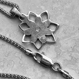 Sterling Silver Blooming Lotus Necklace, Silver Necklace, Flower Necklace