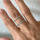 Sterling Silver Stackable Micro Twist Rings