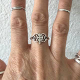 Sterling Silver Medieval Cross Ring, Silver Ring, Rings