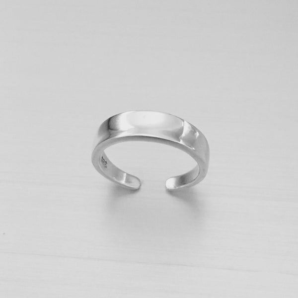 Sterling Silver High Polish Concave Toe Ring, Silver Ring, Boho Ring, Silver Band