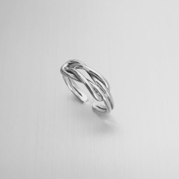 Sterling Silver Adjustable Knot Toe Ring, Boho Ring, Silver Ring, Love Knot Ring