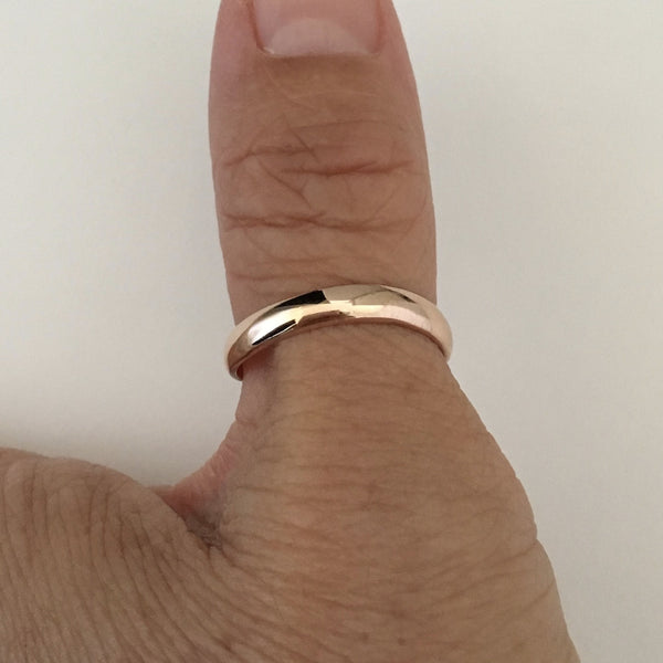 Rose Gold Plated Sterling Silver Thumb Ring, Silver Ring, Silver Band