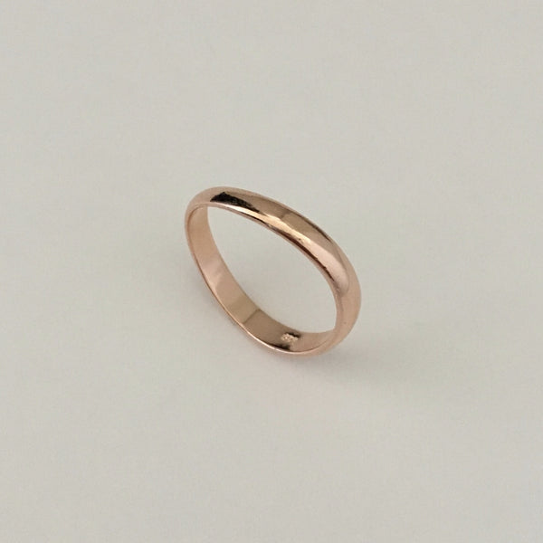 Rose Gold Plated Sterling Silver Thumb Ring Silver Ring Rings