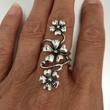 Sterling Silver Statement Rose Flower Ring, Silver Ring, Rings