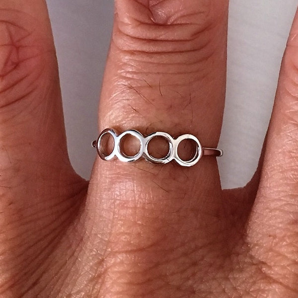 Sterling Silver Four Circle Ring