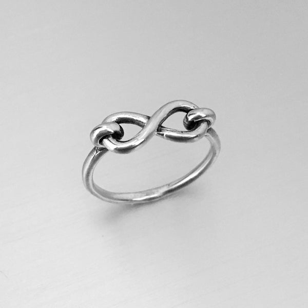 Sterling Silver Infinity Ring, Silver Ring, Promise Ring, Love Ring