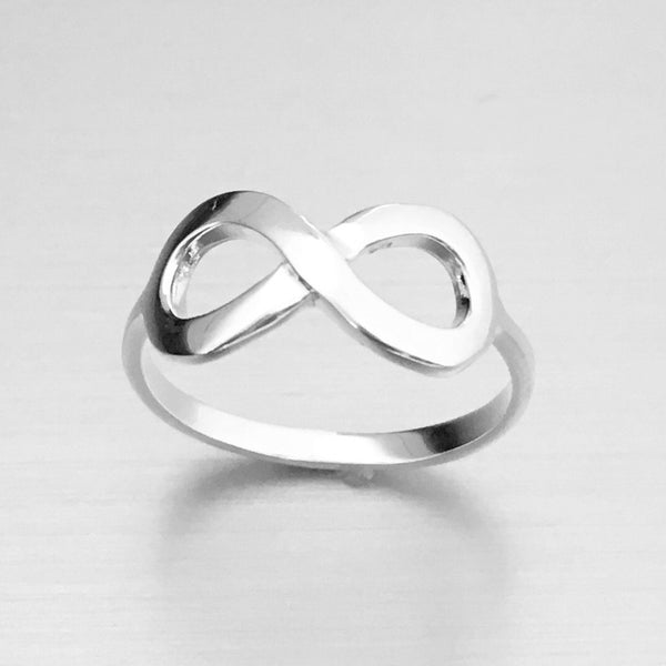 Sterling Silver Large Infinity Ring
