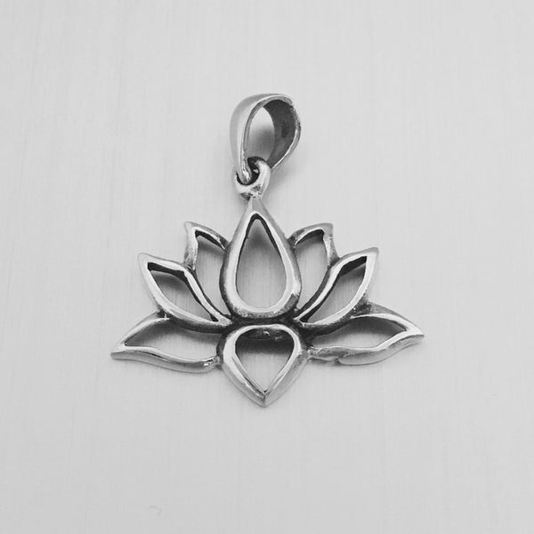 Sterling Silver Open Lotus Pendant
