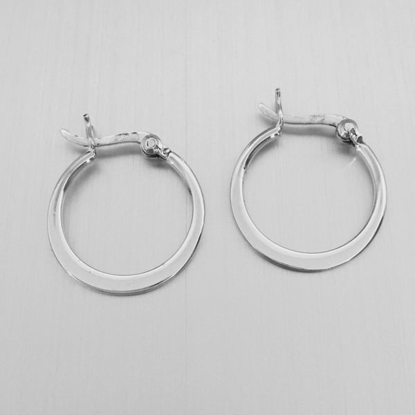Sterling Silver Hoop Earring, Silver Earrings, Plain Earrings, Boho Earrings