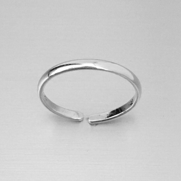 Sterling Silver 2mm Band Toe Ring, Silver Ring, Rings, Silver Band