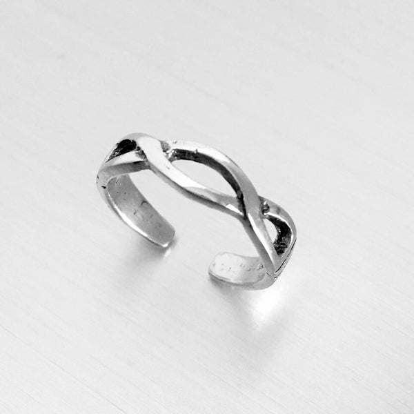 Sterling Silver Adjustable Celtic Weave Toe Ring