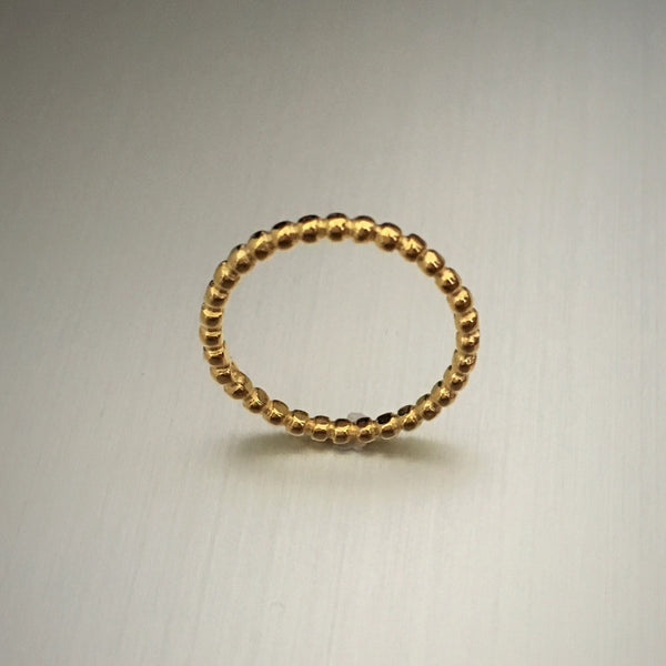 Gold Over Sterling Silver Bead Fitted Toe Rings