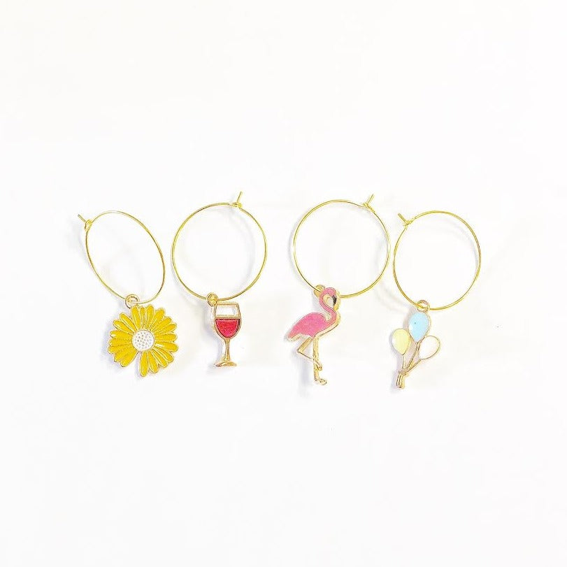 Assorted Wine Glass Charms