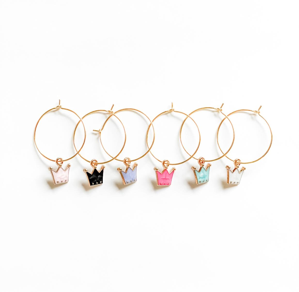 Crown Wine Glass Charms
