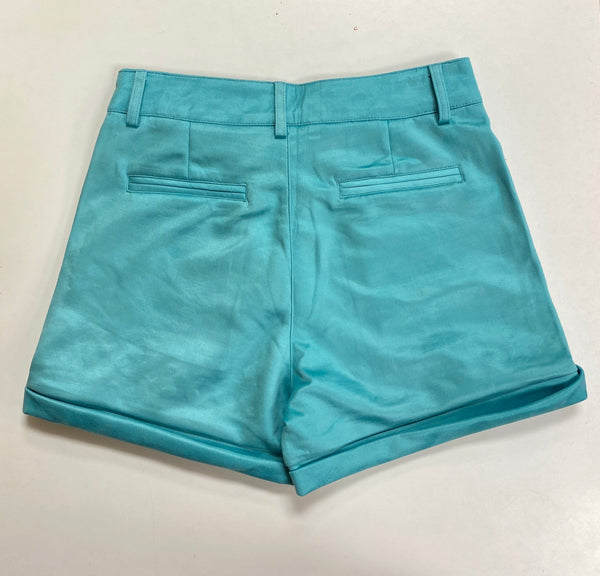 Lucky & Blessed Turquoise Shorts with Studs