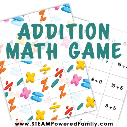 Matching Math Game - Addition