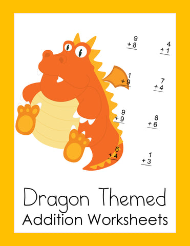Dragon Math Practice Sheets - Addition