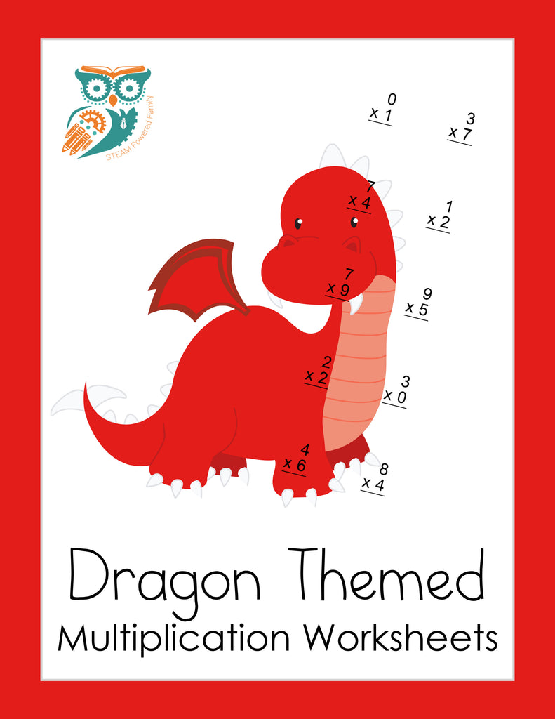 Dragon Math Practice Sheets - Multiplication