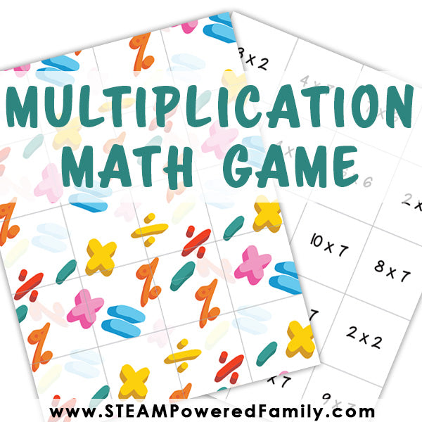 Matching Math Game - Multiplication