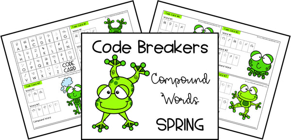 Code Breakers Compound Words Printable Activities