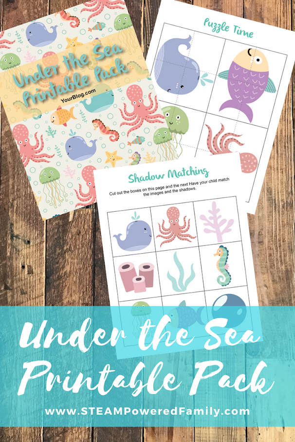 Under the Sea Preschool and Kindergarten Activity Pack