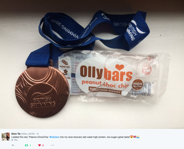 Alice Thai, Paralympic Swimmer fuelled by Ollybars.