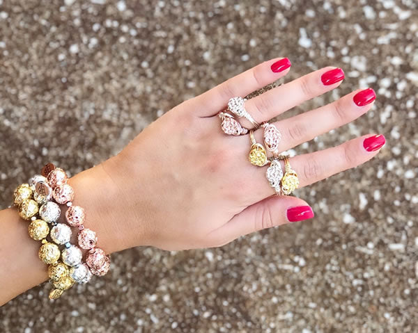 Beautiful Ring Jewelry on woman's hand