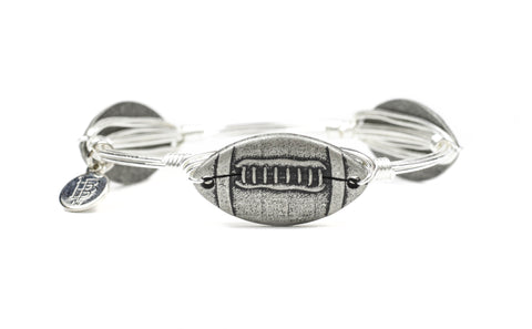 Silver Pewter Football