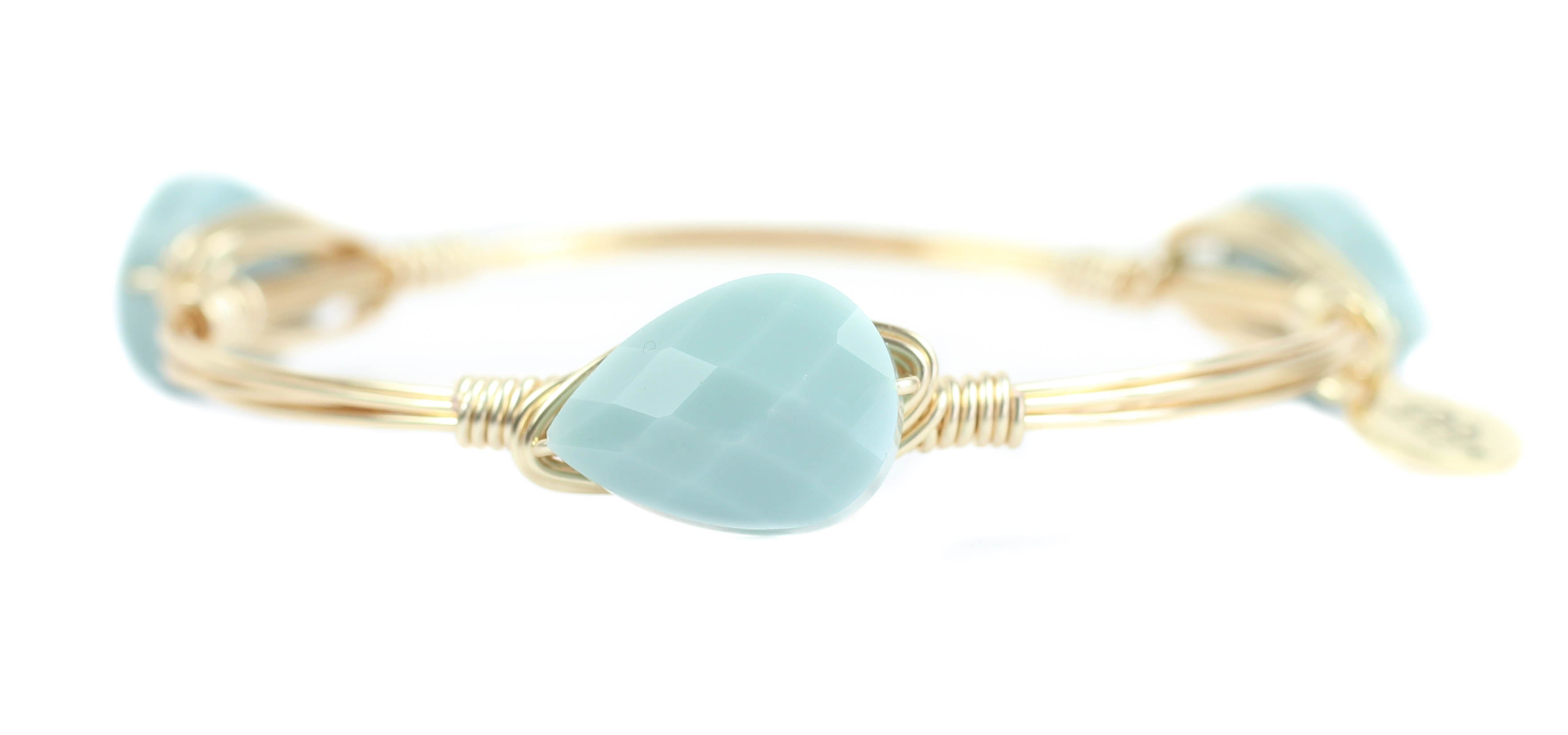 Bracelets Self-Conscious Turquoise Gold Wire Cuff Bracelet Jewelry & Watches