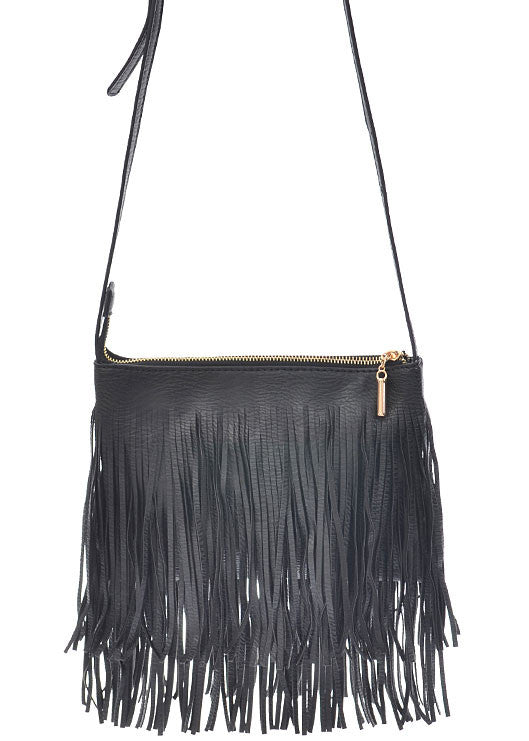 Free Spirited Fringe Cross Body Bag