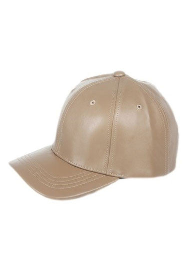 All The Way Up Leather Cap