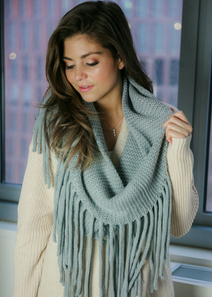Infinite Love Scarf: Grey