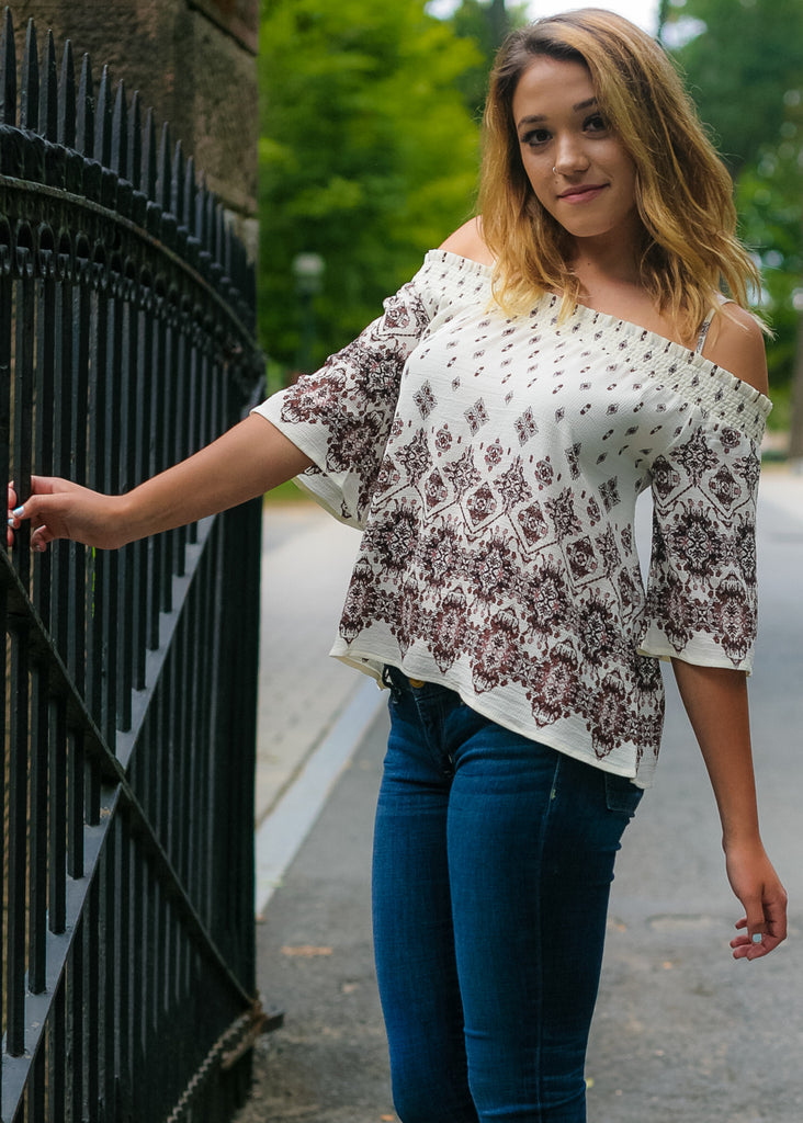 Sweet Wanderlust: Off The Shoulder Top