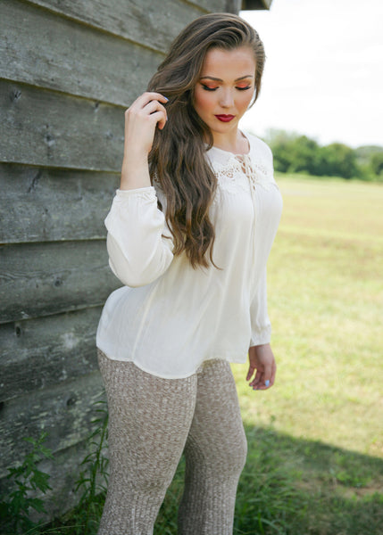 Cute And Flirty Top: Cream
