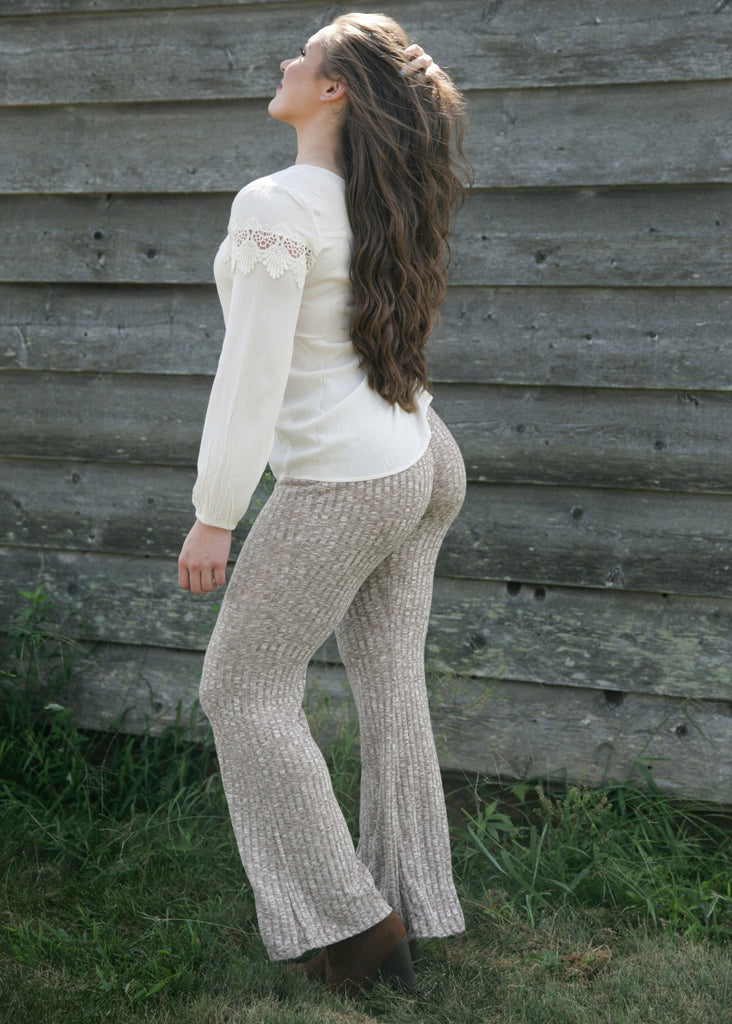 I Like You A Latte: Knit Pants