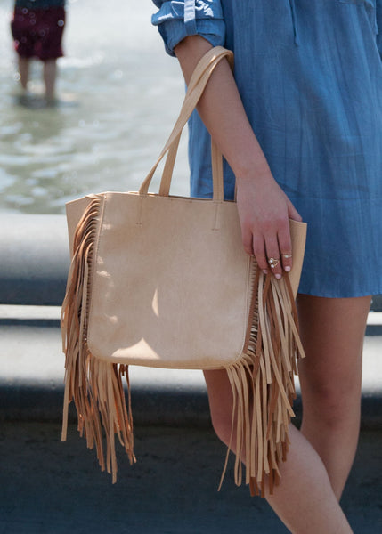 Crazy About Fringe Tote Bag