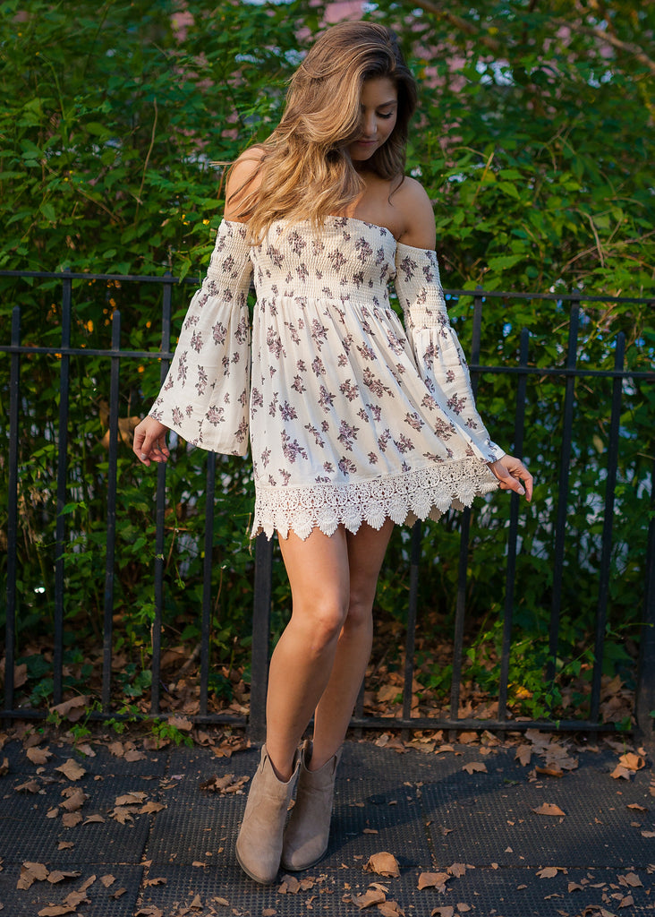 Small Town Girl Dress: Cream