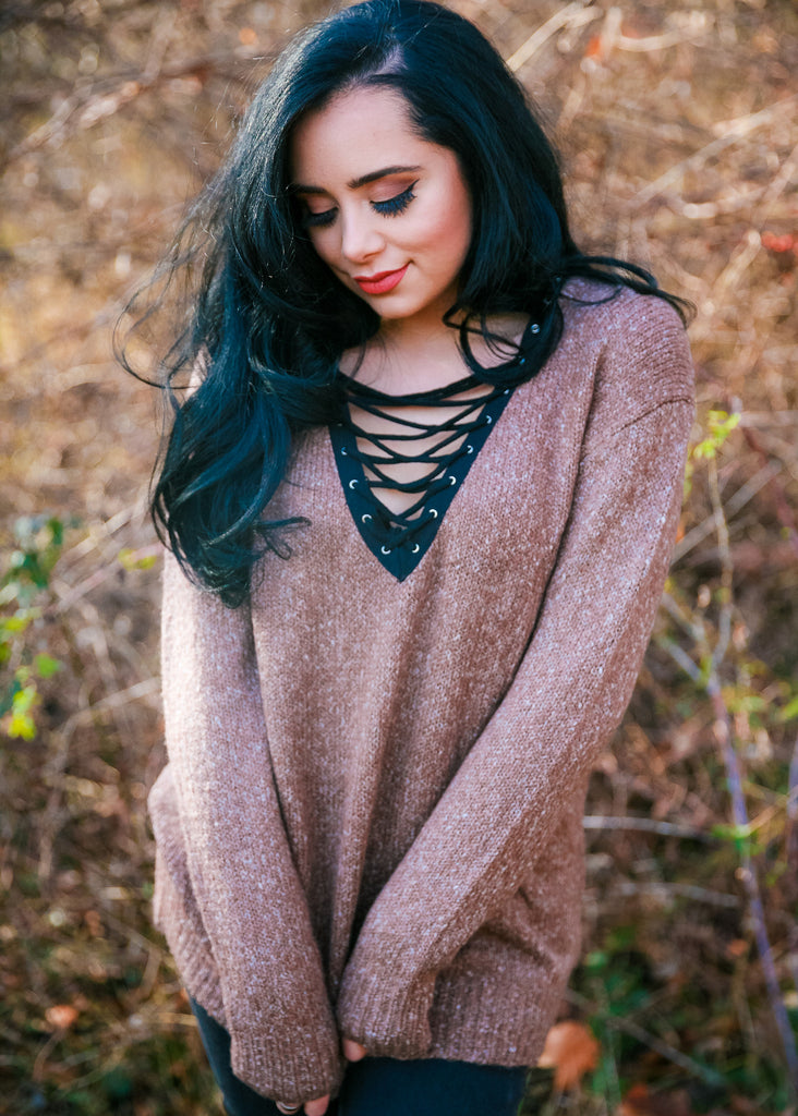 Coffee Shop Crush Sweater: Mocha