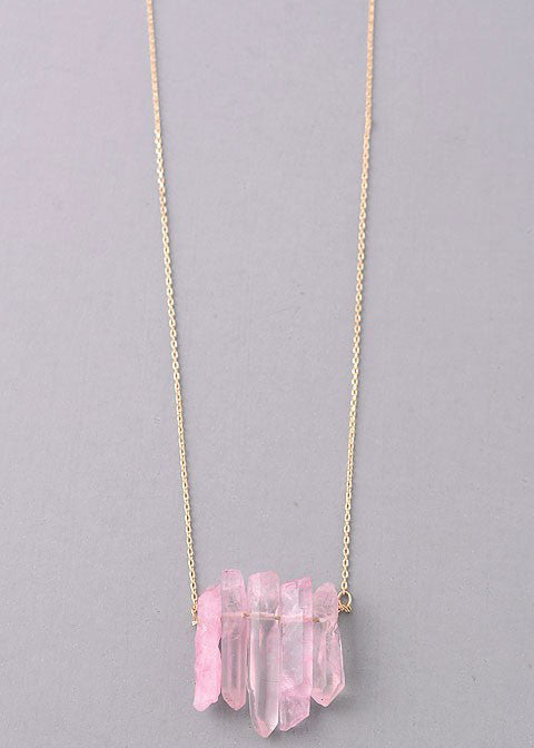Rosey Crystal Necklace