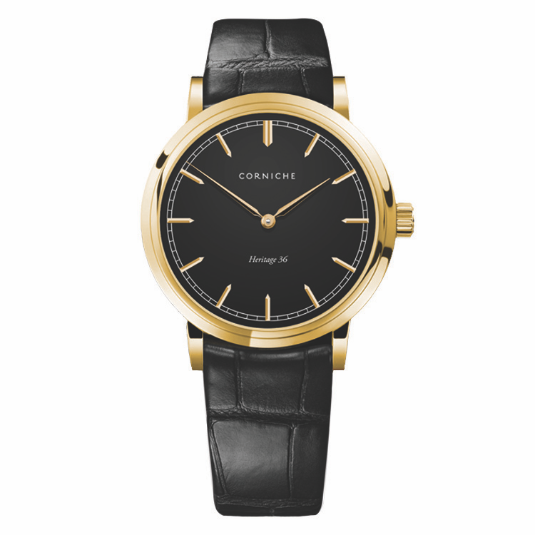 Heritage 36 - Yellow Gold and Black