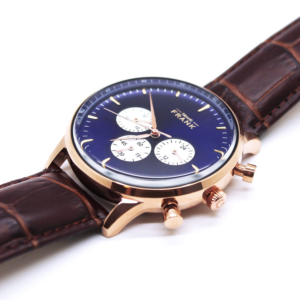 Montpellier - Blue Leather Chronograph