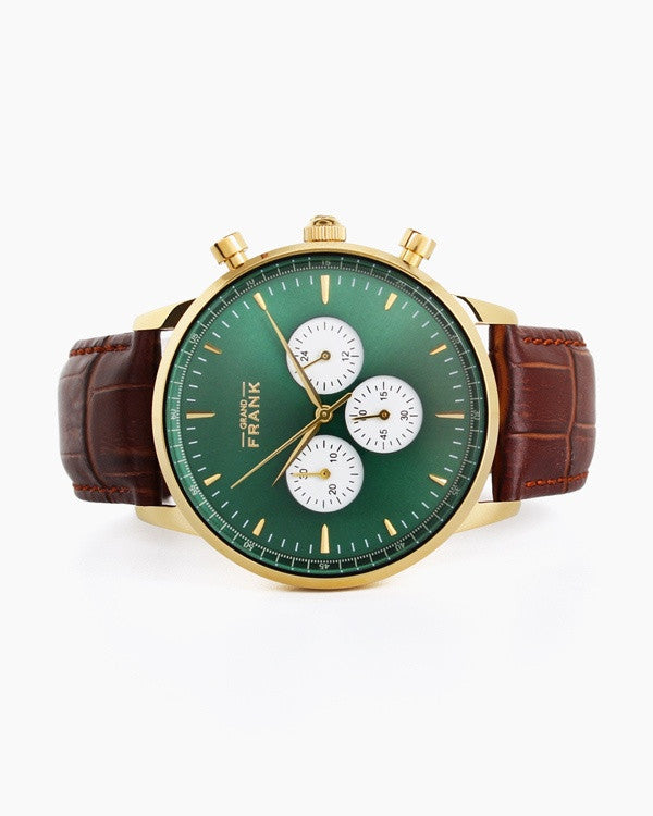 Montpellier - Green Leather Chronograph