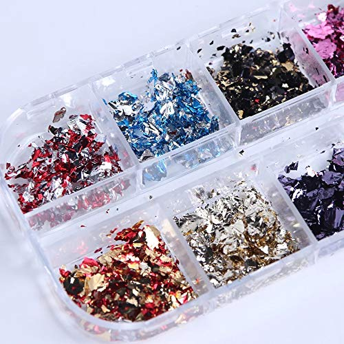Mixed Colorful Nail Foil Flakes