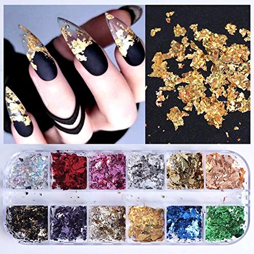 Colorful Nail Foil Flakes