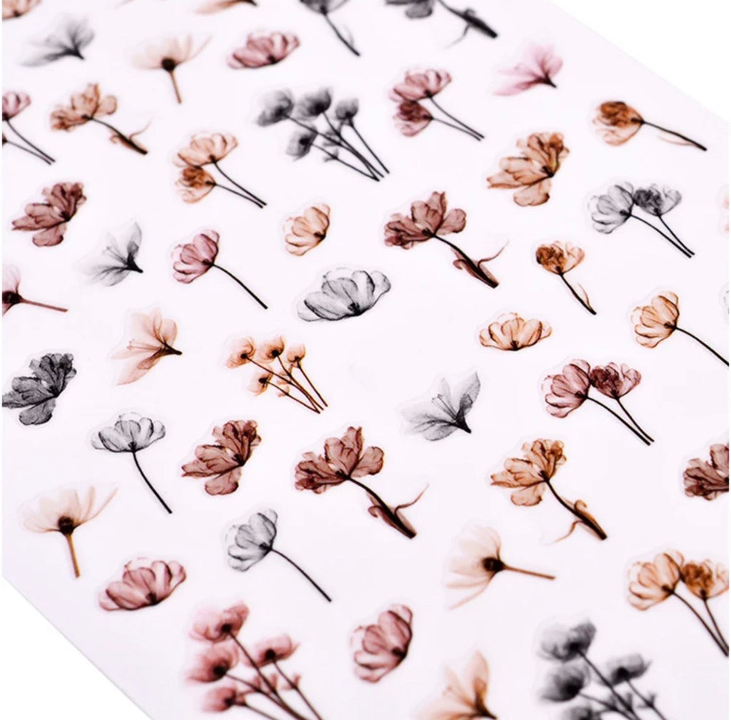 Floral Nail Sticker Sheet