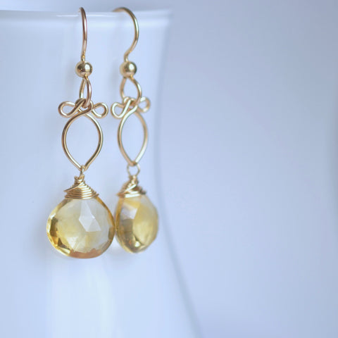Andressa - Citrine, 14k Gold Filled Earrings