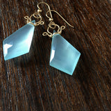 Celine - Chalcedony, 14k Gold Filled Earrings
